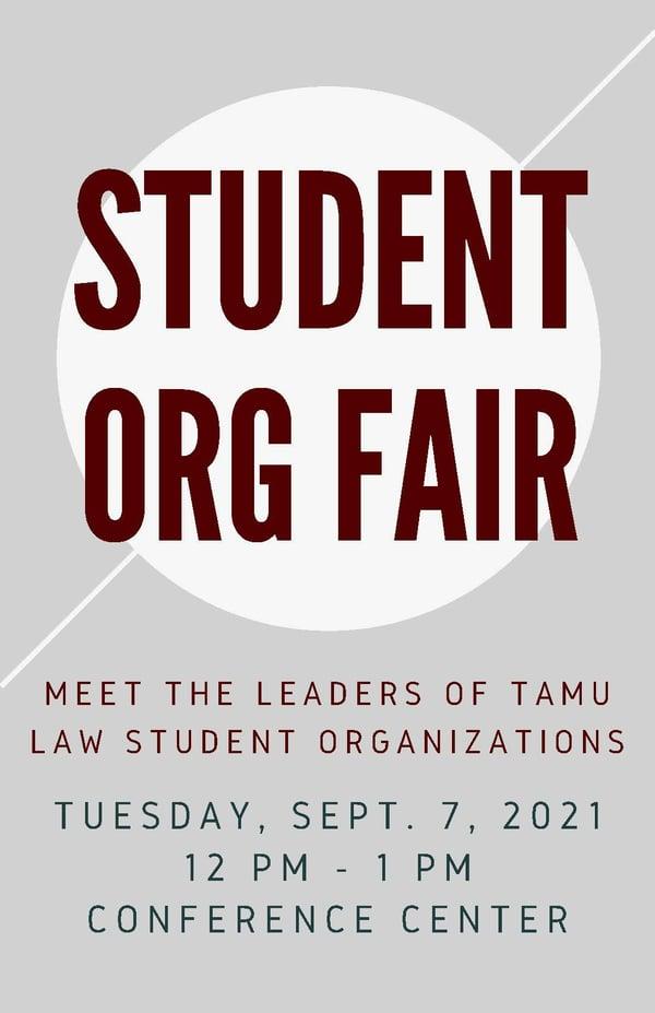 Student Org Fair Flyer